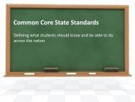 Common Core State Standards Overview - Farmington Public Schools