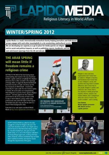 WINTER/SpRINg 2012 - Lapido Media