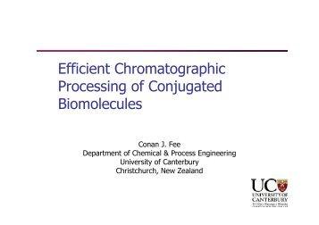Efficient Chromatographic Processing of Conjugated Biomolecules