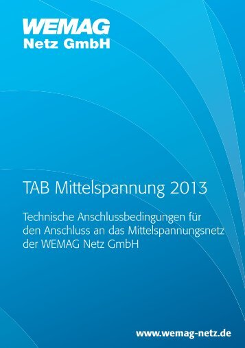 TAB MS 2013 WEMAG Netz GmbH