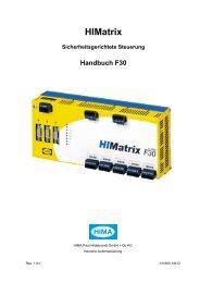 HIMatrix Sicherheitsgerichtete Steuerung Handbuch F30