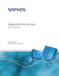 Sophos Anti-Virus for Linux user manual