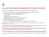 Join the BURSWOOD RESIDENTS ASSOCIATION