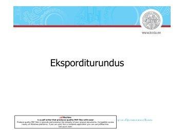 Eksporditurundus - Eesti Kaubandus-Tööstuskoda