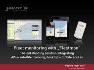 Kombiniertes globales Tracking von Ladung via Satellit und AIS