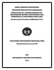 buku panduan penyusunan program kreativitas mahasiswa penelitian