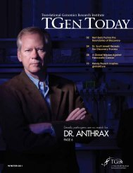 Winter 2011 Issue - Translational Genomics Research Institute