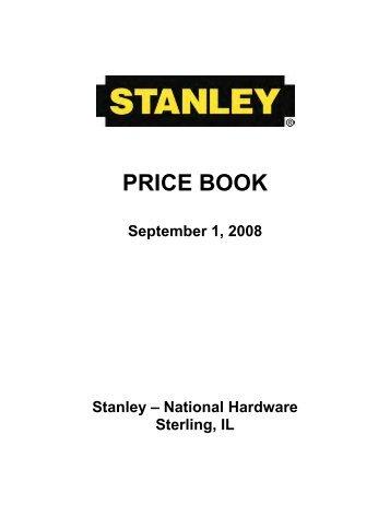 Stanley Hardware Price Book - Top Notch Distributors, Inc.