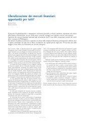 Liberalizzazione dei mercati finanziari - Social Watch