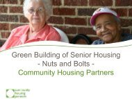 Green Building: Nuts and Bolts - Housing Assistance Council