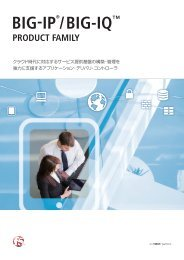 BIG-IP Product Family - NTT-AT Global WAVE