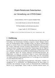 Objekt-Relationale Datenbanken zur Verwaltung von ATKIS-Daten