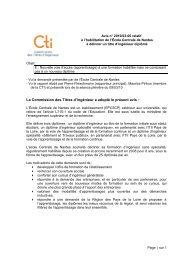 Avis EC Nantes - Commission des Titres d'Ingénieur