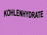 """PowerPointPräsentation zum Skript """"Kohlenhydrate"""" - Medizinisches ..."""