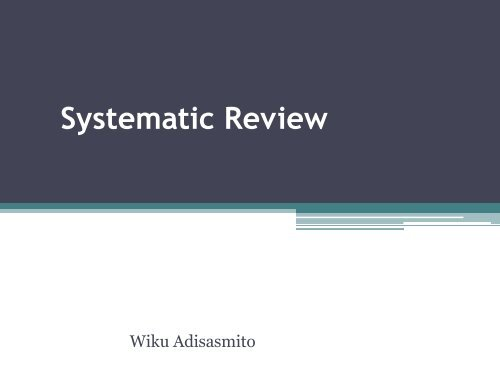 Systematic Review - Blog Staff UI