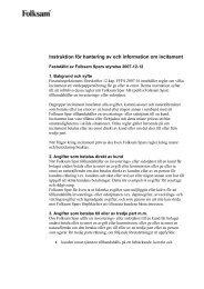 Instruktion för hantering av och information om incitament - Folksam