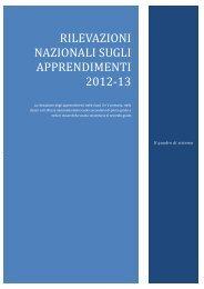 Rapporto SNV PN 2013 - Invalsi