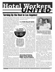 U N I T E D - Hotel Workers Rising