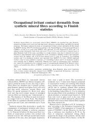 Occupational irritant contact dermatitis from synthetic mineral fibres ...