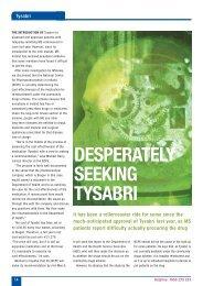 DESPERATELY SEEKING TYSABRI - MS Ireland