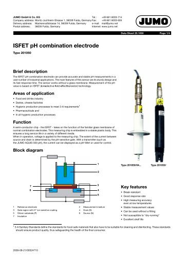 ISFET pH combination electrode - Digitrol