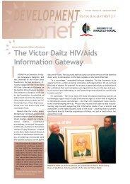 The Victor Daitz HIV/Aids Information Gateway - University of ...