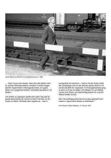 Portraits und Texte (PDF) - Jakob Weder