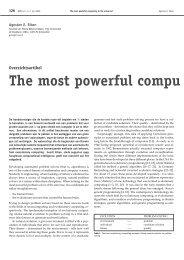 The most powerful compu - Nieuw Archief voor Wiskunde