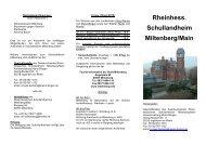 Rheinhess. Schullandheim Miltenberg/Main - Landkreis Mainz-Bingen