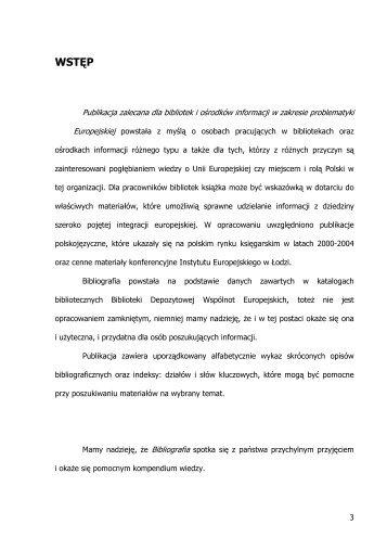 WSTĘP - Urząd Komitetu Integracji Europejskiej