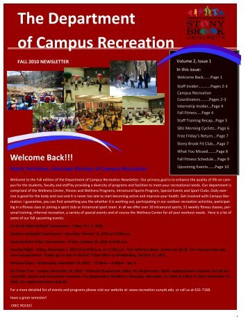 The Department of Campus Recreation - Student Affairs - Stony ...