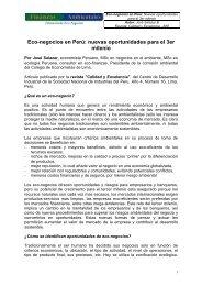 Eco-negocios en Perú - Fondo Verde Internacional