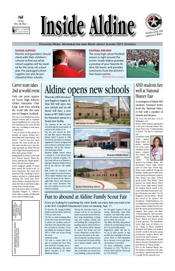 Inside Aldine - Aldine Independent School District