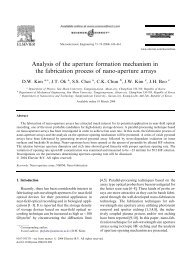Analysis of the aperture formation mechanism in the fabrication ...