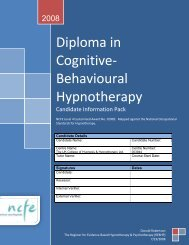 Diploma in Cognitive-Behavioural Hypnotherapy - REBHP