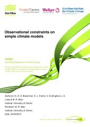 Observational constraints on simple climate models - Met Office