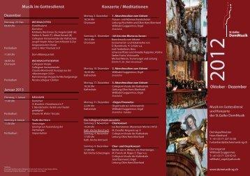 DomMusik Broschüre - Mai bis September 2010 - St. Galler DomMusik