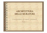 ARCHITETTURA DELLE MURATURE - Sede di Architettura