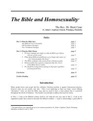 The Bible and Homosexuality1 - Anglican Communion