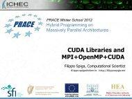 CUDA Libraries and MPI+OpenMP+CUDA - Prace Training Portal