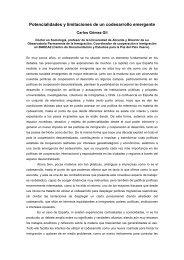 Potencialidades y limitaciones Carlos Gómez Gil