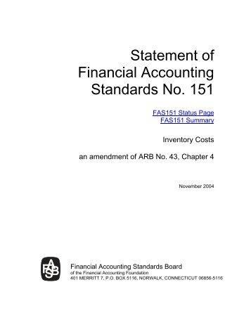 Printing - Statement No. 151 - Inventory Costs - GASB
