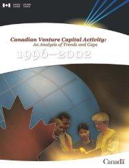 Canadian Venture Capital Activitiy: An Analysis ... - Industrie Canada