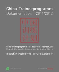 (PDF) Dokumentation 2011/12 - China-Traineeprogramm
