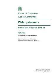 Older prisoners - Social Welfare Portal