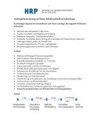 Auftragsfinanzierung - Heyd, Reims & Partner GmbH & Co. KG