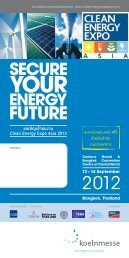 ขอเชิญเข้าชมงาน Clean Energy Expo Asia 2012