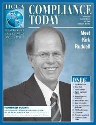 Meet Kirk Ruddell - Health Care Compliance Association