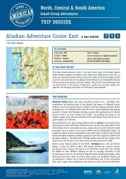 Alaskan Adventure Cruise East 8 Day CRUISE - Adventure holidays