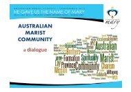 AUSTRALIAN MARIST COMMUNITY a dialogue - Squarespace